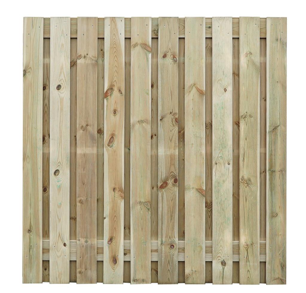 Tuinschermen - Grenen houten scherm 21 planks 180 x 180 cm