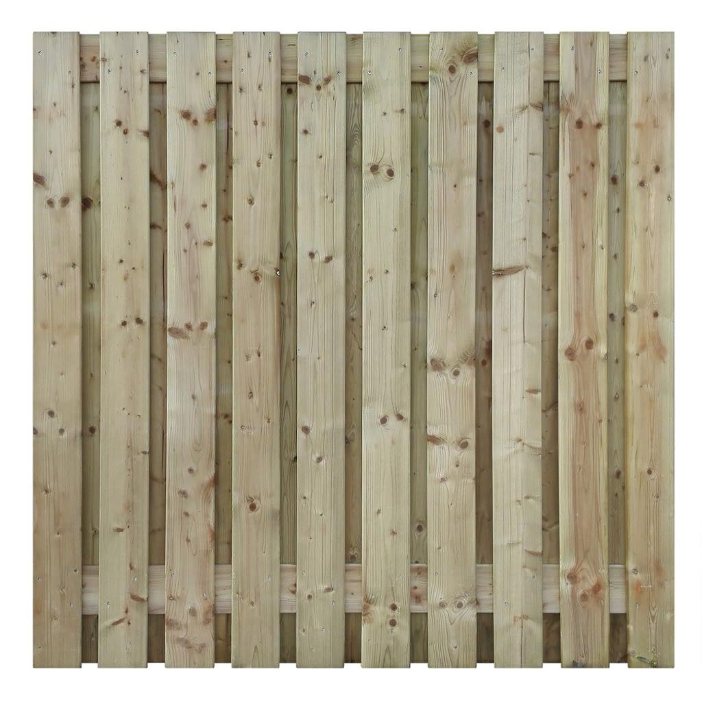 Tuinschermen -  Vuren houten scherm 21 planks 180 x 180 cm
